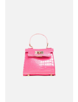 Pink Vegan Snake Leather Chain Mini Bag by Luxe To Kill