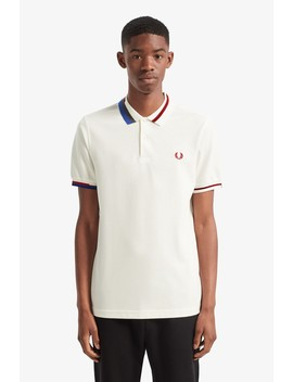 Abstract Collar Piqué Shirt by Fred Perry