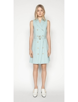 Linen Blend Trench Dress by Cue