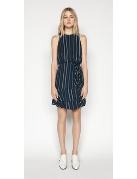 Striped Ruched Waist Dress by Cue