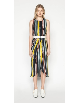 Bold Stripe Draped Dress by Cue