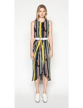 Bold Stripe Draped Dress by Cue