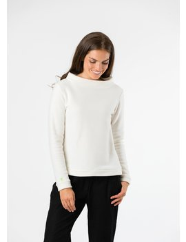 Off White Brighton Boatneck Top by Dudley Stephens
