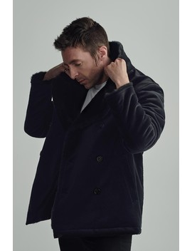 Miles Kane Fur Lined Peacoat  by Fred Perry