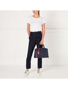 Navy Leather Emme Handbag by Lulu Guinness