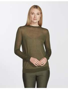 Finespun Voile Crewneck Sweater by Lafayette 148 New York