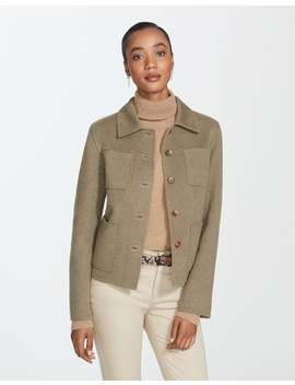 Two Tone Double Face Tomasa Jacket by Lafayette 148 New York