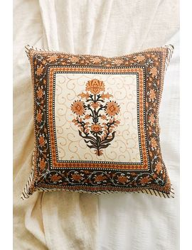 Golden Flower Cushion Cover by Tree Of Life