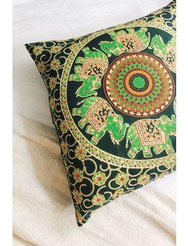 Elephant Mandala Cushion Cover by Tree Of Life