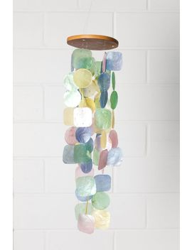 Pastel Capiz Shell Wind Chime by Tree Of Life