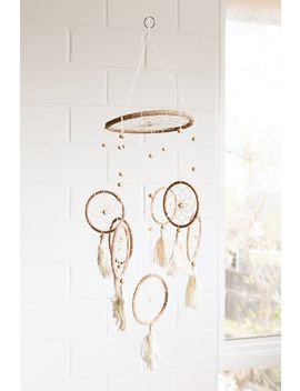 Ivory Dreamcatcher Mobile by Tree Of Life