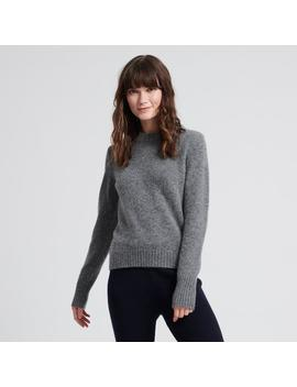 Wool Cashmere Chunky Sweater Medium Gray by Naadam