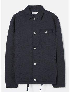 Universal Works Coach Jacket In Navy Sashiko Quilt Twill by Universal Works