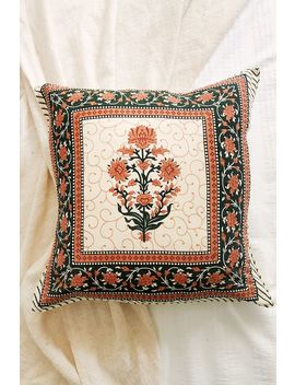 Pink Flower Pot Cushion Cover by Tree Of Life