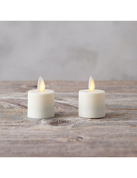 Flame Effect Tea Lights, Set Of 2 by Terrain