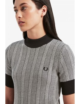 Reissues Two Colour Turtle Neck Jumper by Fred Perry