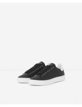 Black Leather Trainers Contrasting Insert by The Kooples