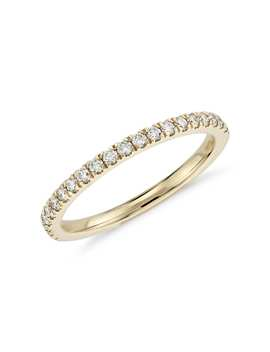 Petite Pavé Diamond Ring In 18k Yellow Gold (1/3 Ct. Tw.) by Blue Nile