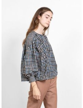 Minamo Silk Top Check by Minä Perhonen