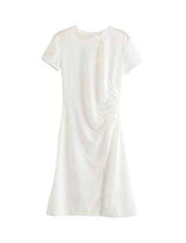 'layla' Cinched Side T Shirt Dress (2 Colors) by Goodnight Macaroon