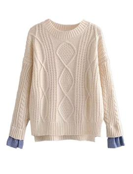 'cecily' Mock Shirt Cable Knit Sweater (4 Colors) by Goodnight Macaroon