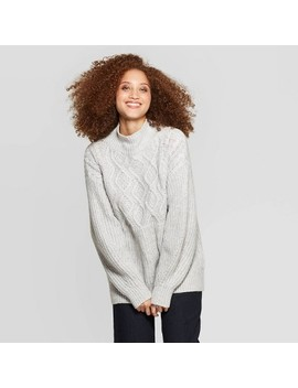womens-mock-turtleneck-pullover-sweater---a-new-day by a-new-day