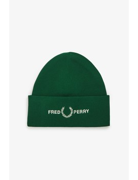 Graphic Beanie by Fred Perry
