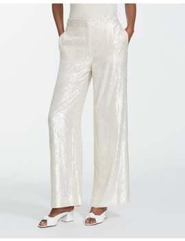 Spectrum Sequins Dalton Wide Leg Pant by Lafayette 148 New York