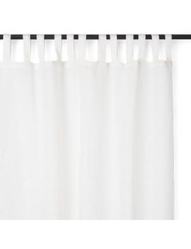 Varanasi Linen Curtain White by Abc Home