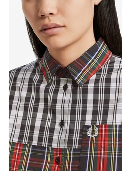 Mixed Tartan Shirt Dress by Fred Perry
