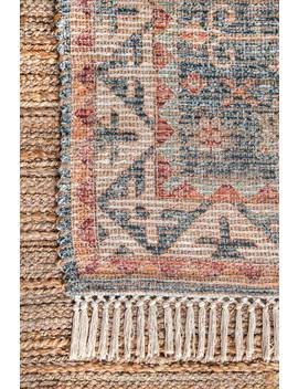 Botaniq Cartouche Medallion Tassel Rug by Rugs Usa
