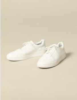 Plain Leather Sneakers by Sandro Eshop