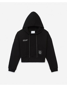 Sweatshirt Capuche Noir Patch Logo by The Kooples