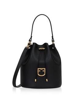 Corona S Drawstring Leather Bucket Bag by Furla