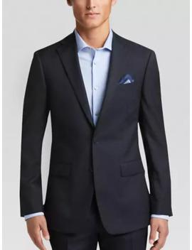 Calvin Klein X Fit Navy Stripe Slim Fit Suit by Calvin Klein