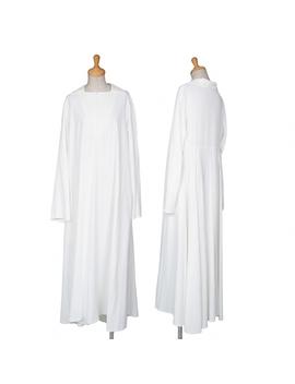 Toothpick Yamamoto Femme Yohji Yamamoto Femme Rayon Flare Drape Dress White S by Rakuten Global Market