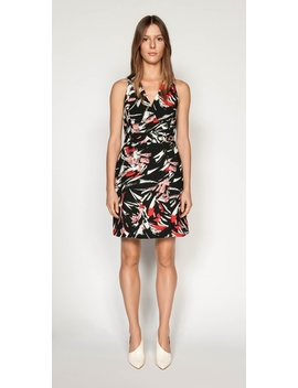 Brushstroke Wrap Dress by Cue