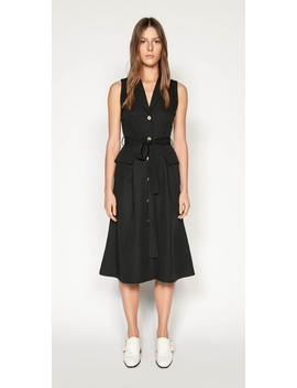 Belted Button Front Dress by Cue