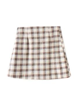 'marigold' Checked Print Mini Skirt (2 Colors) by Goodnight Macaroon
