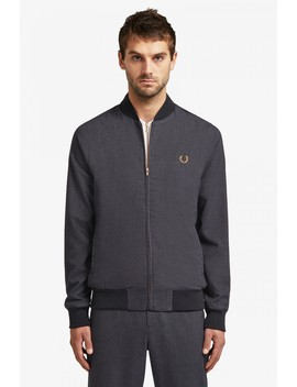 Miles Kane Houndstooth Bomber Jacket  by Fred Perry