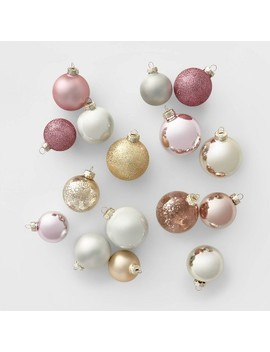 42ct-glass-round-christmas-ornament-set-white-blush-and-gold---wondershop by shop-this-collection