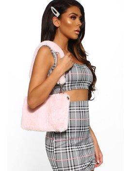 Hot Gossip Pink Faux Fur Handbag by Pink Boutique