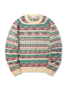 Mix Jacquard Sweater by Acne Studios
