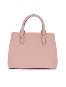Marcy Ii Satchel Mini Mellow Pink/Porcini by Lauren Ralph Lauren