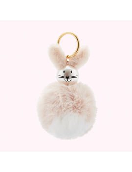 Dusky Pink Rabbit Bag Charm by Lulu Guinness
