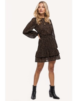 Go For It   Brown by Loavies Brown Leopard Print Dress