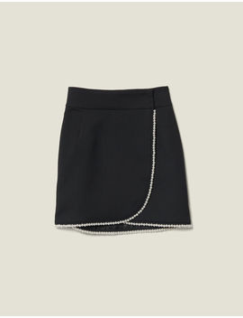 Short Skirt Embellished With Beads by Sandro Eshop