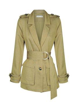 Ellington Linen Jacket   Olive by Shona Joy