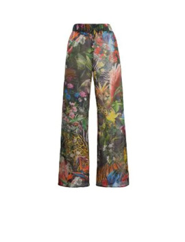 Paradise Found Print Trousers by Roberto Cavalli