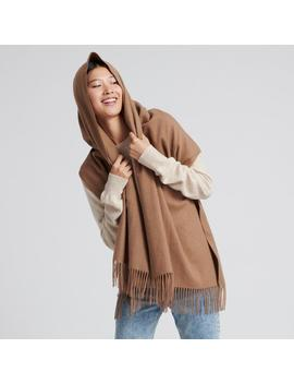 Cashmere Solid Scarf Light Brown by Naadam